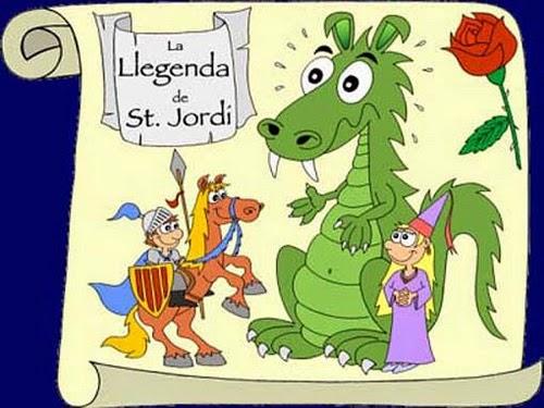 Día del Libro y la leyenda de San Jorge, Sant Jordi, contada para niños