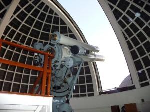 Le téléscope pointé vers la Lune