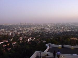 Tombée de la nuit sur LA