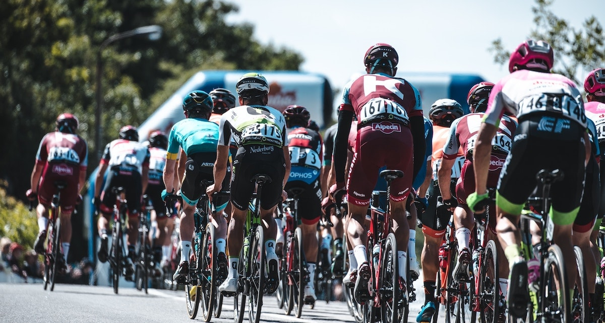 Cyclists in a race