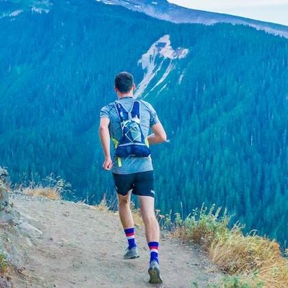 trail runner uphill