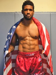 Wes Argrow wearing the American flag