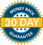 30 Day Money Back Guarantee Badge in iKOR branded colors