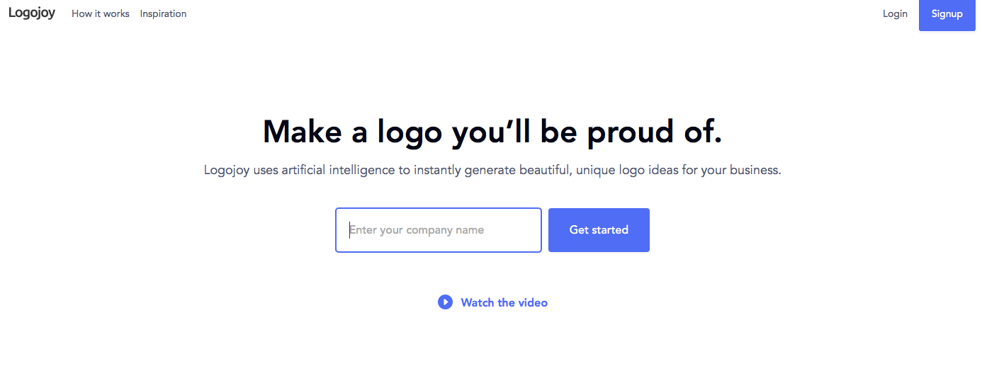 Create Logos Hassle Free with LogoJoy