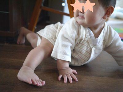 赤ちゃんお掃除ロボット^^9ヶ月突入で「つかまり立ち」スタート!