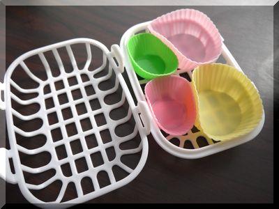 食器洗浄機に100円セリアの小物カゴ