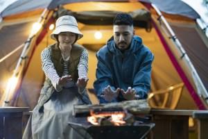 キャンプ革手袋