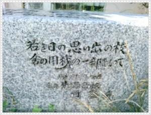 石碑 側面