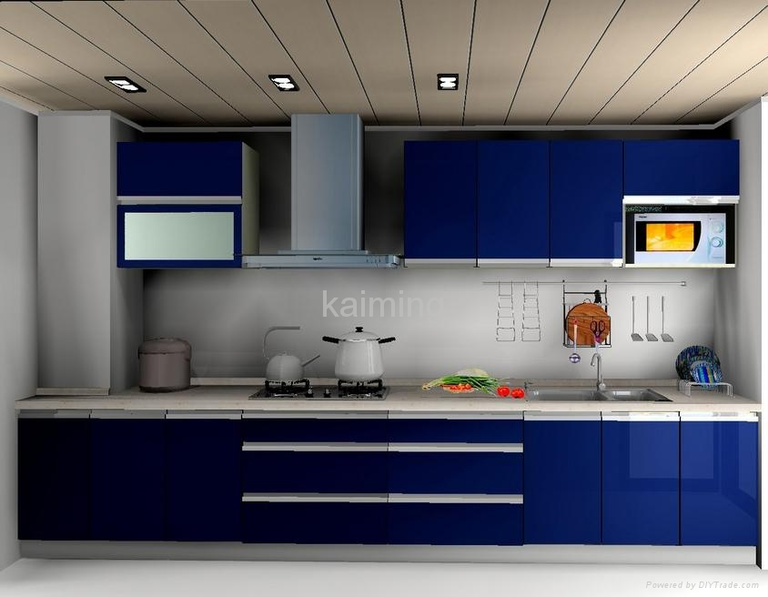 Blue Kitchen Cabinets Doors Only 2015