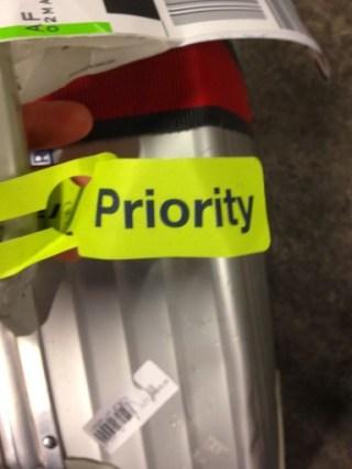 Priority baggagelabel bij Air France