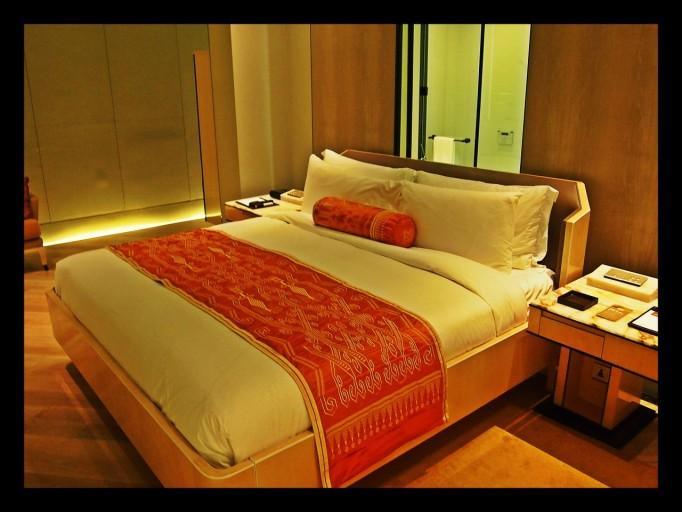 Mijn bed in het Kertaton at The Plaza