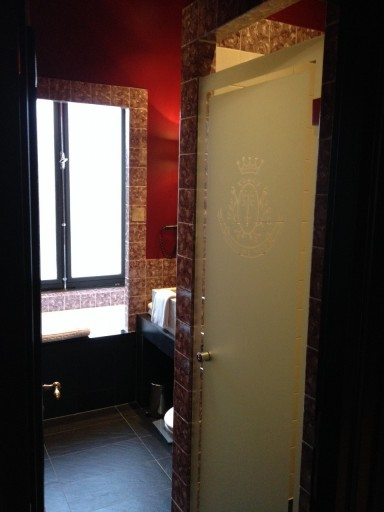 Ingang van de badkamer