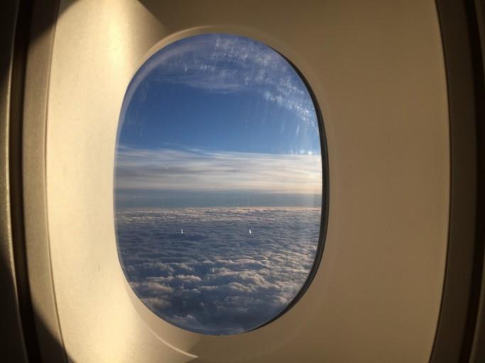 Het uitzicht boven Engeland