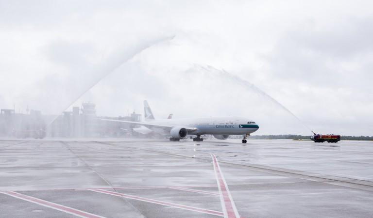 Cathay Pacific Inaugural flight