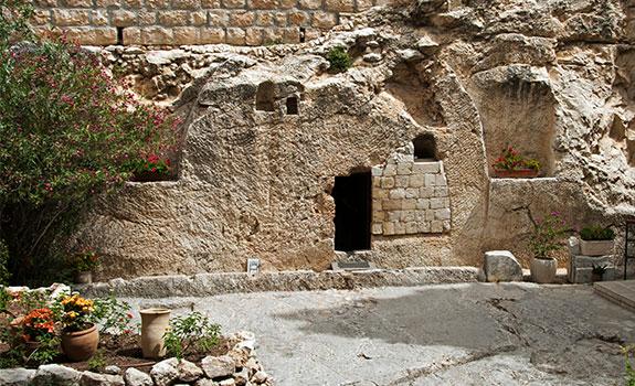 lege graf van Jezus