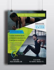 saját testsúlyos edzés plakát és szórólap