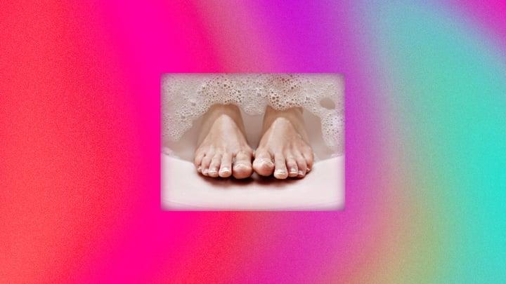 כפות רגליים יבשות.