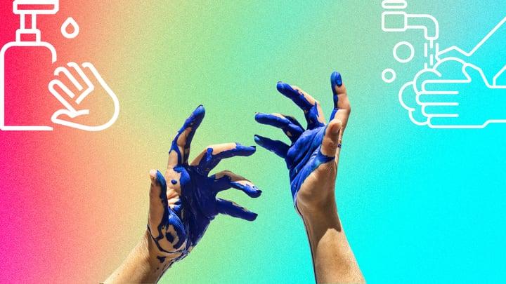 ניקוי צבע עור הידיים