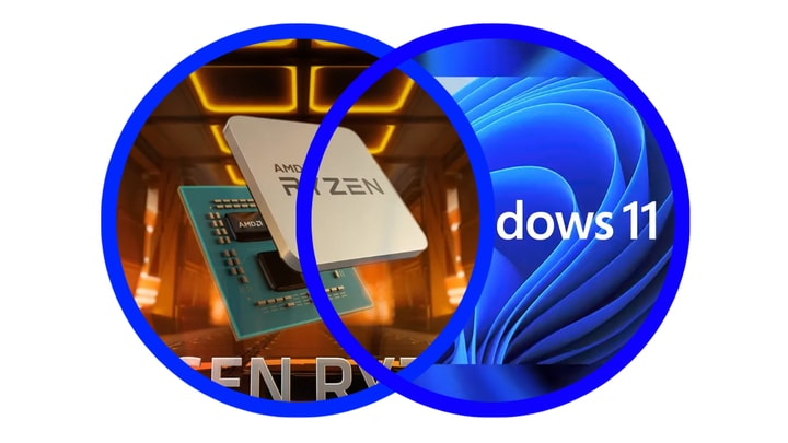 ווינדוס 11 מאט ביצועים של מעבדי איי אמ די (AMD).