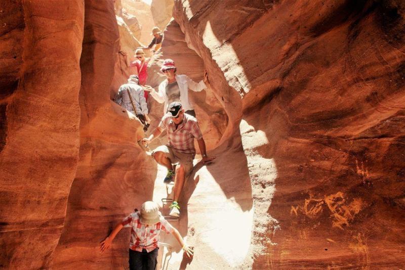 canyon rouge-dans la gorge