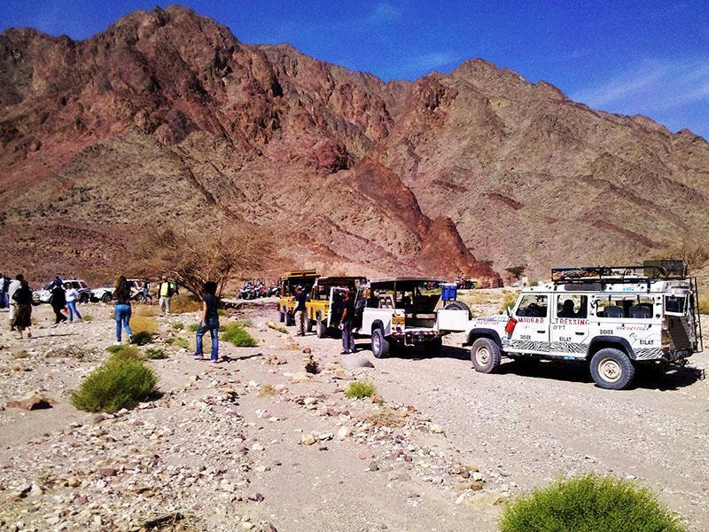 groupe dans les monts d'Eilat
