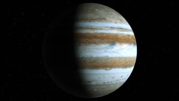 Animated One Revolution Of Planet Jupiter With Correct