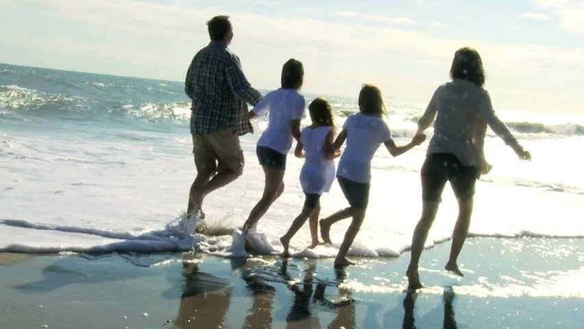 Image result for family at the beach fall