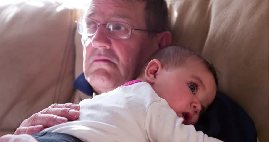 Images Grandpas And Newborn Granddaughter