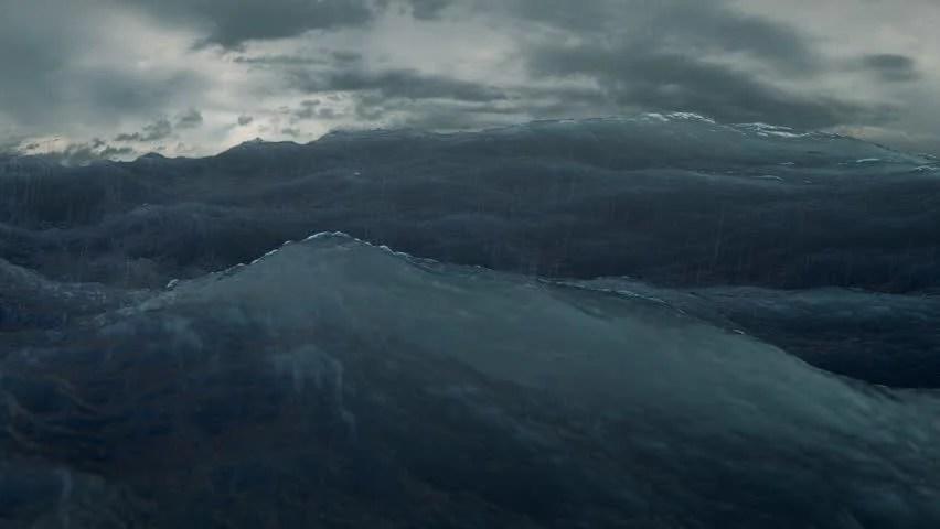 Rough Sea Seamless Loop Big Waves In A Stormy Ocean Camera