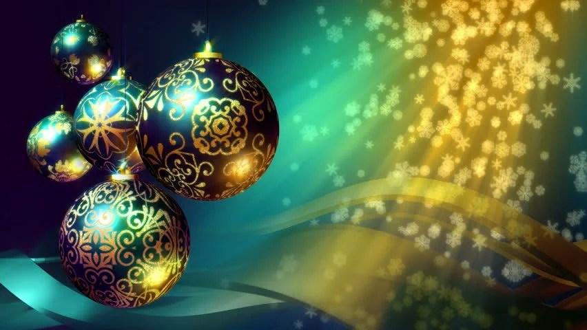 Christmas Balls On Christmas Tree Stock Footage Video