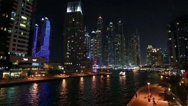 Cityscape At Night. Time Lapse. Singapore. High Quality ...