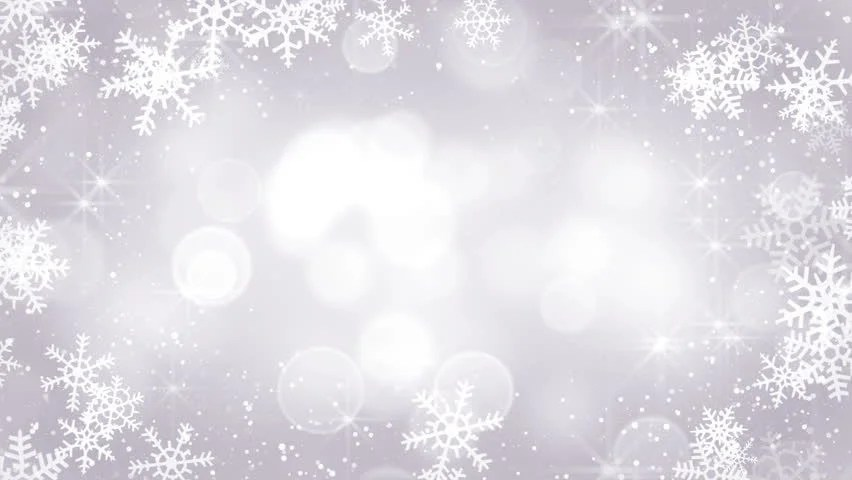 Silver Snowflakes Frame Computer Generated Seamless Loop