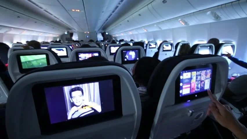 Inside Jet Airliner In Cruise Stock Footage Video 5635226