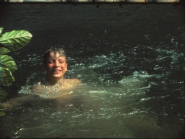 Vintage 8 Mm Film: Children Swimming In Lake Stock Footage ...