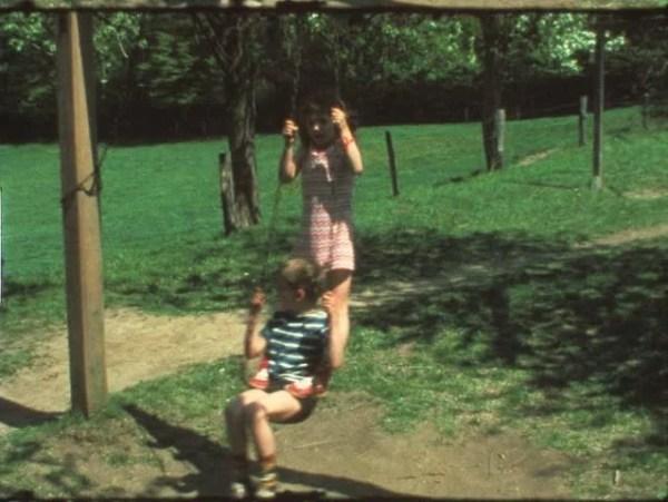 Vintage 8 Mm Film: Children On Playground Swing, 1970s ...