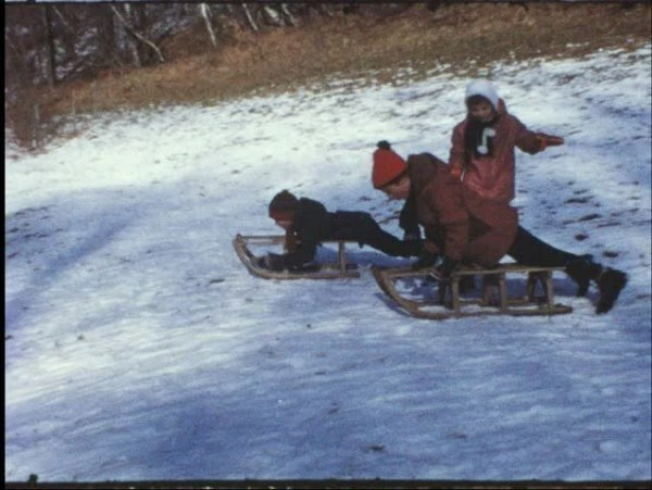 Vintage 8mm Film: Children On Sledge, 1960s Stock Footage ...