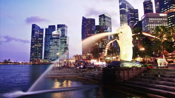 Singapore Day To Night. Time Lapse. High Quality Footage ...
