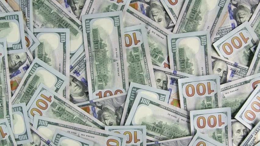 Blue Hundred Dollar Bills