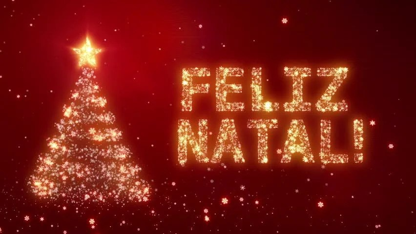FELIZ NATAL Christmas Background With Bright Snow