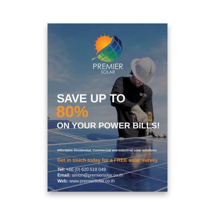 Premier Solar flyer design