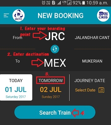 How to Book IRCTC Tatkal Ticket Online Using IRCTC Mobile App