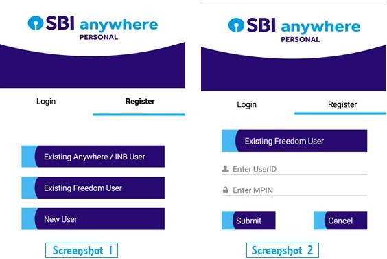 sbi anywhere banking