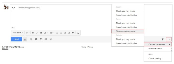 canned responses gmail - gmail tips