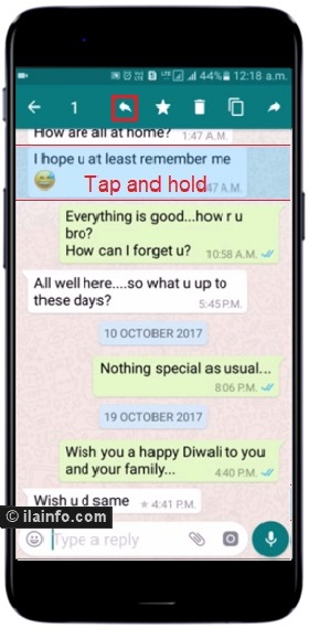 reply to specific chat message in whatsapp -tricks and cheats