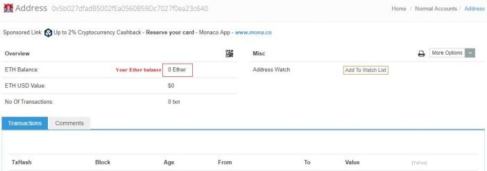check ethereum paper wallet balance -ethereum block explorer