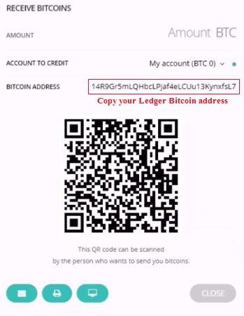 ledger bitcoin address - send bitcoin to ledger nano s hardware wallet