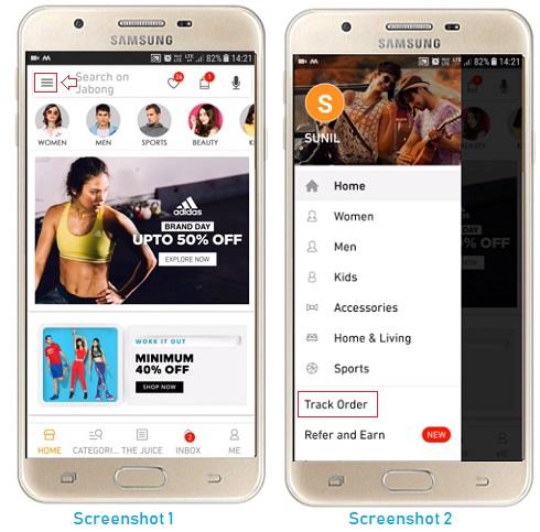 Exchange or Return a Product on Jabong online