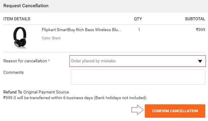 How to Cancel Order on Flipkart App and Website