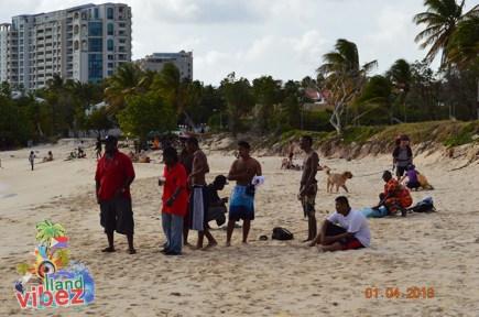 Easter Monday at Mullet Bay Beach 2013 St Maarten