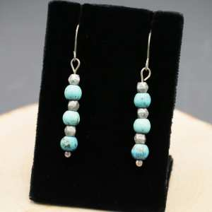 Light Blue and Silver Earrings